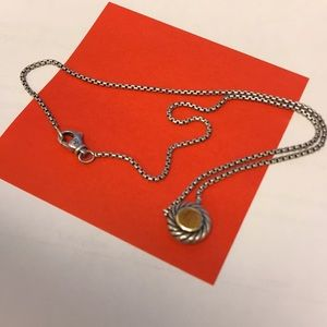 Pre owned David is Yurman Cookie Necklace Citrine